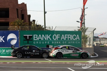 Tom Chilton, Chevrolet RML Cruze TC1, ROAL Motorsport and Tiago Monteiro, Honda Civic WTCC, Castrol Honda WTC Team