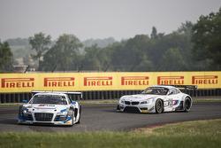 #5 Phoenix Racing Audi R8 LMS ultra: Alessandro Latif, Marc Basseng