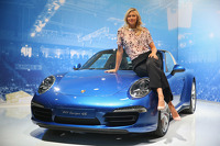 Porsche brand ambassado Maria Sharapova unveils her new line of 911-shaped candies