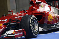 The Ferrari F14-T of Fernando Alonso, Ferrari in parc ferme