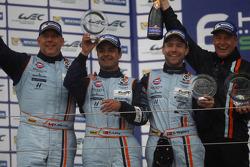 LM GTE AM podium: second place Paul Dalla Lana, Pedro Lamy, Christoffer Nygaard