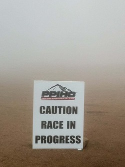 Foggy conditions on Pikes Peak