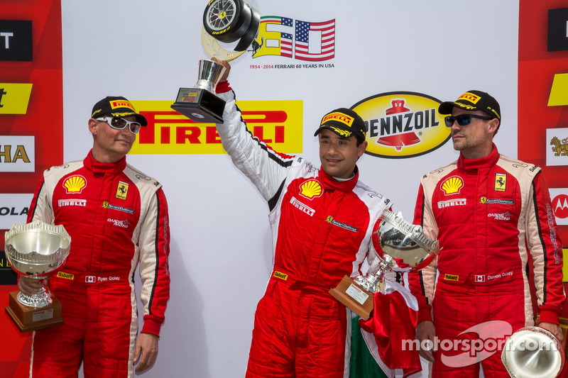 Trofeo Pirelli Podium: Ricardo Perez, Ryan Ockey, Damon Ockey