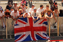 British fans in the pits