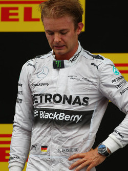 Podium: second place Nico Rosberg