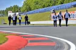 Track walk Bruno Spengler, BMW Team Schnitzer, BMW M4 DTM, Portrait and Martin Tomczyk, BMW Team Schnitzer, BMW M4 DTM, Portrait