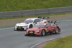Miguel Molina, Audi Sport Team Abt Sportsline, Audi RS 5 DTM, versus Martin Tomczyk, BMW Team Schnitzer, BMW M4 DTM,