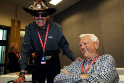 Richard Petty and Junior Johnson share a laugh before voting