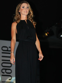 Camille Marchetti, girlfriend of Jules Bianchi, Marussia F1 Team at the Amber Lounge Fashion Show