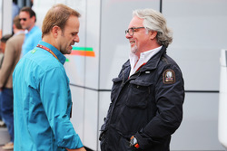 (L to R): Rubens Barrichello, with Keke Rosberg