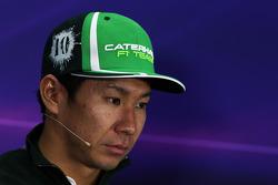 Kamui Kobayashi, Caterham in the FIA Press Conference