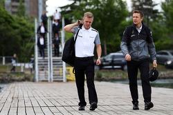 Kevin Magnussen, McLaren with Antti Vierula, Personal Trainer