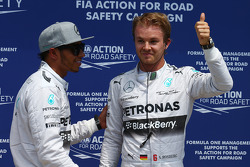 Pole for Nico Rosberg, Mercedes AMG F1 W05 and 2nd for Lewis Hamilton, Mercedes AMG F1