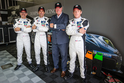 Jean-Claude Biver from LVMH with Joe Foster, Patrick Dempsey and Patrick Long