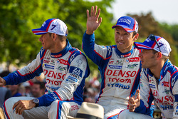 Pole winner Kazuki Nakajima with Alexander Wurz and  Stéphane Sarrazin