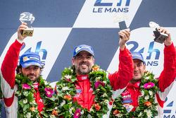 LMGTE Am podium: third place Luis Perez-Companc, Marco Cioci, Mirko Venturi