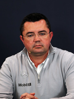 F1: Eric Boullier, McLaren Racing Director in the FIA Press Conference
