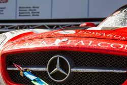 #1 Black Falcon Mercedes-Benz SLS AMG GT3 on the car podium