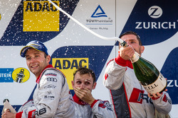 Podium: champagne for Christian Mamerow
