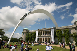 Mercedes Benz display over Goodwood House