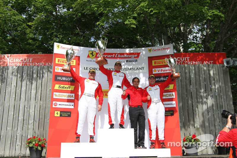 CS podium: winner Carlos Conde, second place Jon Becker, third place Chris Ruud
