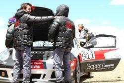 HILLCLIMB: Romain Dumas waits at the summit