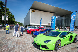 Supercars display: Lamborghini Aventador