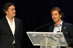 Jarno Trulli and Alejandro Agag, CEO, Formula E