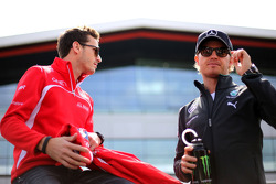 Nico Rosberg, Mercedes AMG F1 Team and Jules Bianchi, Marussia F1 Team
