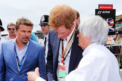 F1: Mark Stewart, with HRH Prince Harry, and Bernie Ecclestone, on the grid
