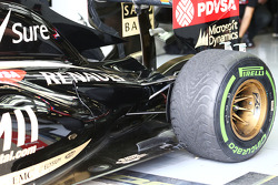 Pastor Maldonado, Lotus F1 E21 rear suspension detail