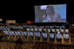 Outdoor movie watching