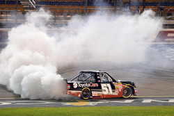 NASCAR-TRUCK: Race winner Erik Jones celebrates