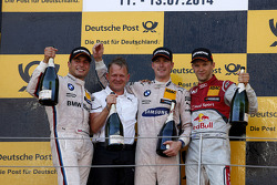 Podium,  2nd Bruno Spengler, BMW Team Schnitzer BMW M4 DTM, 1st Maxime Martin, BMW Team RMG BMW M4 DTM, 3rd Mattias Ekström, Audi Sport Team Abt Sportsline, Audi A5 DTM