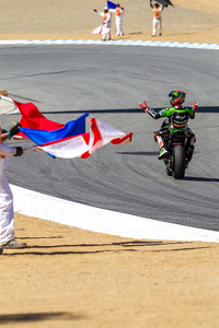 Tom Sykes celebrates his victory in race 2