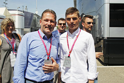 (L to R): Jos Verstappen, with his son Max Verstappen