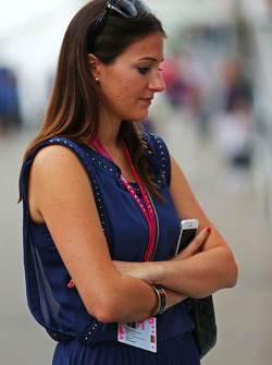 Laura Zinnel, girlfriend of Nico Hulkenberg, Sahara Force India F1