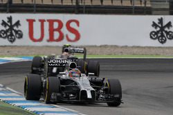 F1: Jenson Button, McLaren MP4-29 leads team mate Kevin Magnussen, McLaren MP4-29