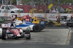 Crash in turn three that caused a red flag