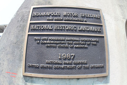 A plaque on the scoring pylon