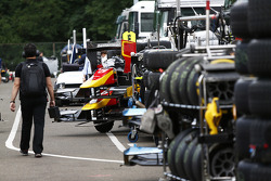 The GP2 tyre trolleys