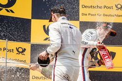 Podium: Marco Wittmann, BMW Team RMG BMW M4 DTM, and Augusto Farfus, BMW Team RBM BMW M4 DTM celebrate with champagne