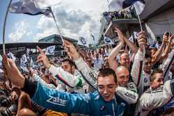 BMW Team RMG team members celebrate