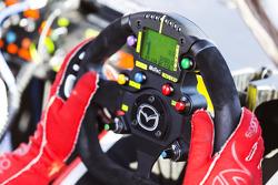 Mazda steering wheel detail