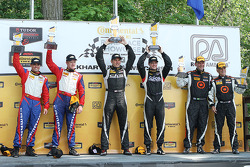 Podium: race winners Lawson Aschenbach, Eric Curran, second place Robin Liddell, Andrew Davis, third place Ray Mason, Pierre Kleinubing