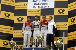 Podium, 2nd Mike Rockenfeller, Audi Sport Team Phoenix Audi RS 5 DTM, 1st Marco Wittmann, BMW Team RMG BMW M4 DTM, 3rd Edoardo Mortara, Audi Sport Team Abt Audi RS 5 DTM and Stefan Reinhold , BMW Team RMG