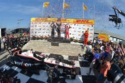 INDYCAR: Race winner Will Power, second place Juan Pablo Montoya, third place Tony Kanaan