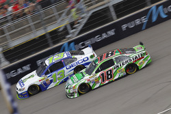 Casey Mears, Germain Racing Ford and Kyle Busch, Joe Gibbs Racing Toyota