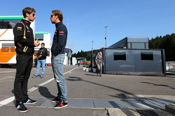 Romain Grosjean, Lotus F1 Team and Jean-Eric Vergne, Scuderia Toro Rosso