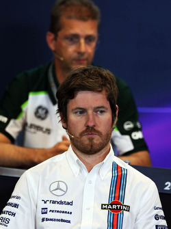Rob Smedley, Williams Head of Vehicle Performance in the FIA Press Conference